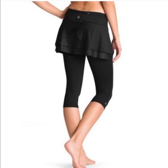 Athleta 2 in 1 Split Time Leggings + Skirt